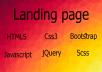 تصميم صفحة هبوط للتعريف عن منتجك او شركتك  landing page