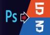 تحويل تصميم psd إلى صفحة html