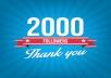 زياده عدد متابعينك في تويتر من 500 الي 2000
