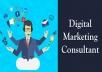استشارة في التسويق الرقمي  خبرة 10 أعوام