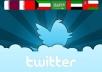 بإضافة 4000 متابع شرعي حقيقي من دول الخليج لحسابك على تويتر