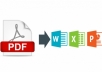 تفريغ بيانات pdf وادخالها الى وورد او اكسيل او بوربوينت