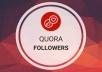 ساقدم لك متابعين على منتدى Quora