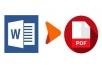 تحويل ملفات ال word الي ملف pdf ال20 صفحه