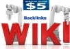 عمل 6000 باك لينك من مواقع الويكي لموقعك لتسيطر علي محركات البحث