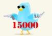 أضافة 15000 فولورز الى حسابك فى تويتر فى اقل من 24 ساعة