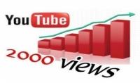 2000 مشاهد على يوتيوب