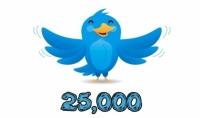 اضافة 25.000 متابع تويتر نشط خليجي حقيقي بــ