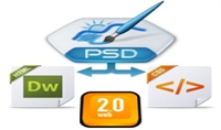 تحويل أي تصميم PSD إلى صفحة WEB2.0 باستخدام HTML و CSS