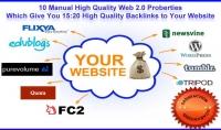 انشأ لك 15 باك لينك يدوي من مواقع الويب 2.0 دوفلو و نوفلو
