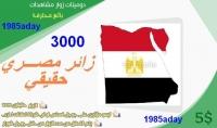 جلب  3000 زائر من مصر حقيقي الى موقعك او مدونتك