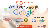 جلب 25 ألف زائر من محرك البحث جوجل Google فقط ب 5 دولار