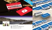 تصميم بطاقة أعمال لصفحتك علي الفاسبوك و أخري لقنات اليوتوب
