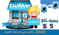 5000 متابع عربي لحسابك التويتر