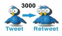اضافة 1000 تغريدة ريتويت اجنبي لتغريداتك