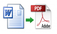 تحويل أى ملف Word إلى ملف PDf