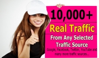 أرسال 10 ألاف زائر لموقعك من غوغل أو من مواقع التواصل الاجتماعي
