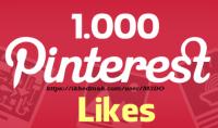 1000 اعجاب بنترست pinterest