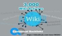 3000 مقال ويكي باك لينك