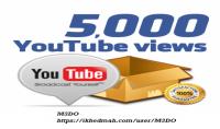 5000 مشاهدة حقيقية للفيديو الخاص بك على يوتيوب