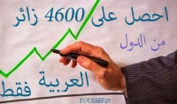 احصل على 4600 زائر من الدول العربية فقط