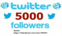 اضافة 5000 متابع اجنبي علي توتير