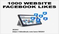 1000 اعجاب فيسبوك علي موقعك أو مدونتك