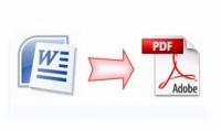 تحويل اي ملف تريده من صيغة Word الى PDF