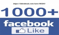 1000 معجب عربي حقيقي لصفحتك علي فيسبوك