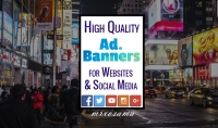 بانرات عالية الجودة للمواقع و صفحات التواصل الاجتماعي