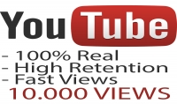 اضافة 10.000 مشاهدة حقيقية على اليوتيوب