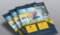 تصميم مطوية أو فلير لشركتك أو منتجك بطريقة إحترافية و مبتكرة