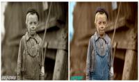 تعديل وتلوين صورتين قديمتين بطريقة ابداعية