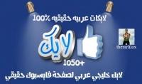 1050 لايك خليجي عربي لصفحتك على فايسبوك حقيقي