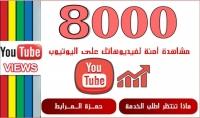 8000  مشاهدة لفيديوهاتك على اليوتيوب فقط ب 5 دولار