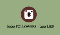 باضافة 6000 الف متابع  200 لايك في حسابك علي الانستقرام 10$ فقط