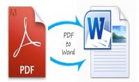 خدمة تحويل ملف PDF الى ملف word والعكس بـ 5$