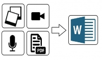 إدخال النصوص من الصور  مقاطع الفيديو   ملفات PDF .
