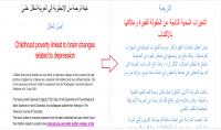 الترجمة من العربية إلي الإنجليزية والعكس.
