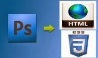 تكويد صوره psd وتحويلها الى موقع html css