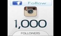 ساقوم باضافة 1000 متابع على الفايس بوك و1000 متابع على حساب الانستغرام ب5 دولارفقط