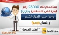 20000  25000 الف زائر امن على ادسنس 100% من جميع الشبكات الاجتماعية