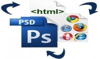 تحويل الموقع من PSD الى لغة HTML وCSS