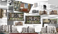 انشاء لوحة عرض مشاريع معمارية