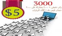 3000 زائر  3000 مشاركة علي الفيس بك