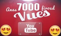 ساقدم لك 7الف مشاهده يوتيوب حقيقية وامنة مدى الحياه 100%
