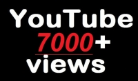 اضافة 7000 مشاهدة يوتيوب حقيقية ب 5 دولار فقط