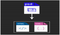 convert file PSD to HTTML5 CSS3