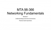 اساعدك على الحصول على شهادة اساسيات الشبكات Networking 98 366