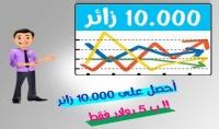 ارسال 10000 زائر لموقعك فى يوم او يومين على الاكثر